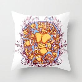 Inca design - Mayan Pinup Simbols Throw Pillow