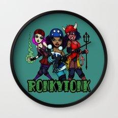 RonkyTonk Halloween Roller Derby Shirt Wall Clock