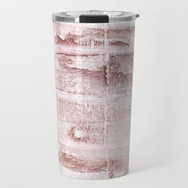 Rosy brown blurred watercolor pattern Travel Mug