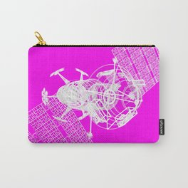 Explorer White on Pink Carry-All Pouch