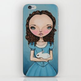 Alice Holding a bunny iPhone Skin
