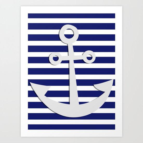 Hipster Sailing Art Print