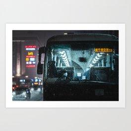 Sapporo Bus Driver Art Print