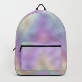 Holographic Iridescent Rainbow Chevron Foil Backpack