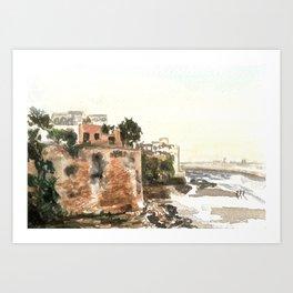 Kasbah of the Udayas, Rabat, Morocco Art Print