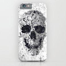 Doodle Skull BW Slim Case iPhone 6