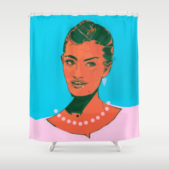 Here I Am Shower Curtain