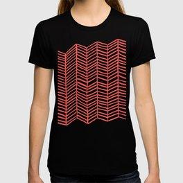 Coral Herringbone T-shirt