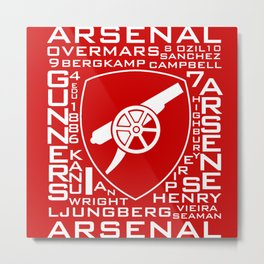 MixWords: Arsenal Metal Print