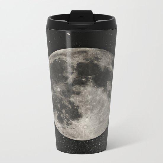 The Moon  [Sans Type] Metal Travel Mug
