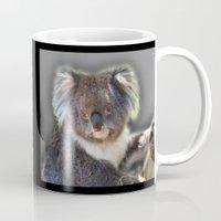 koala Mugs featuring Koala by SwanniePhotoArt