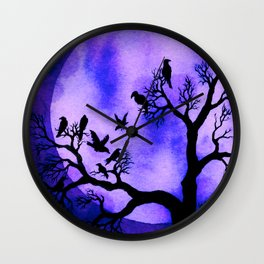 A Murder of Crows 3 Wall Clock