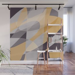 Purple and Gold (XI) Abstract Wall Mural