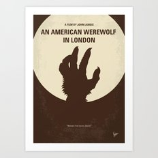 No593 My American werewolf in London minimal movie poster Art Print