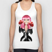 nicki Tank Tops featuring Nicki M. Boxing realistic caricature by Danna Victoria