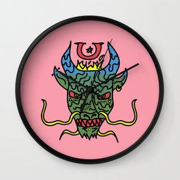 Trippy Chinese Dragon Wall Clock