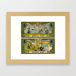 Krazy Money Framed Art Print