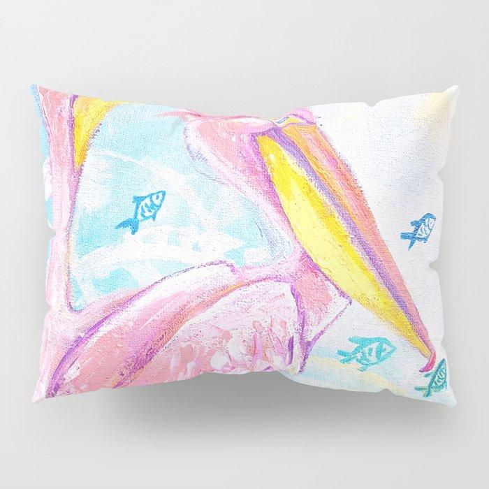 Pink pelicans Pillow Sham