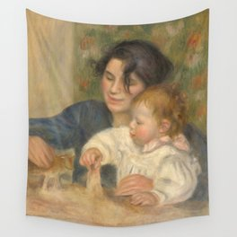 Gabrielle Renard and infant son, Jean Wall Tapestry