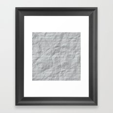 Crumpled Lined Paper Framed Art Print