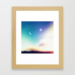 Two Moons Framed Art Print
