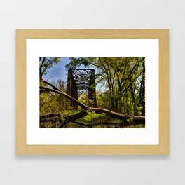 Road Block Framed Art Print