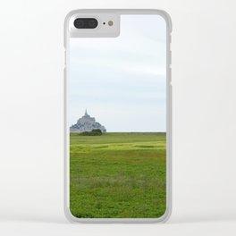 Le Mont Saint Michel 1 Clear iPhone Case