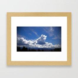 (#61) Spring Clouds Framed Art Print