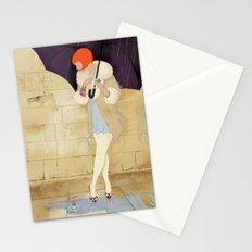 RAINY DAY FLOWER Stationery Cards
