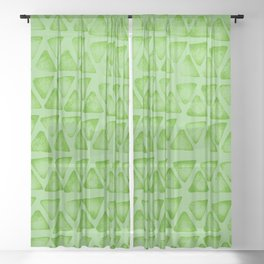 Irregular green Sheer Curtain