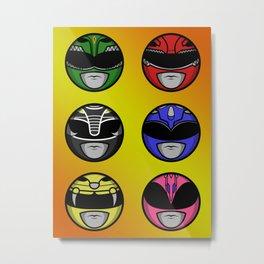 Mighty Morphin Power Ranger Headz Metal Print