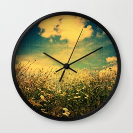 Counting Flowers Like Stars - Color Version Wall Clock