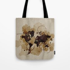 Map Stains Tote Bag