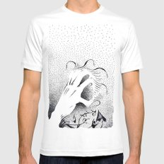 To Grasp Creativity White Mens Fitted Tee MEDIUM