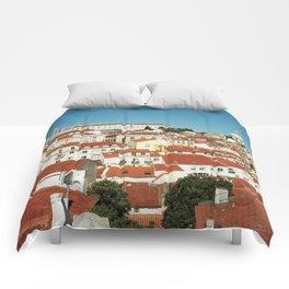 Lisbon view, Portugal Analog 6x6 Kodal Ektar 100 (RR 166) Comforters