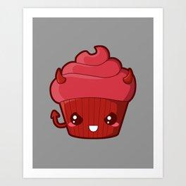 Spooky Cupcake - Devil Art Print