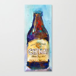 Chimay Triple - Authentic Trappist Beer Belgian Beer Art Print from Original Watercolor  Canvas Print