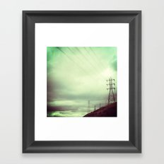 ELECTRICAL SKY Framed Art Print