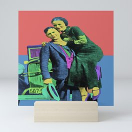 Bonnie and Clyde Pop Art Mini Art Print