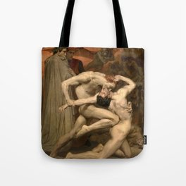 DANTE AND VIRGIL - WILLIAM-ADOLPHE BOUGUEREAU Tote Bag
