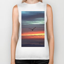 Black Gull by nite Biker Tank