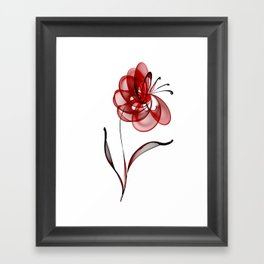 Vector Flower Framed Art Print