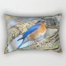 Bluebird in Tree Rectangular Pillow