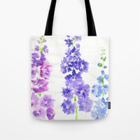 dolphins Tote Bags featuring Dolphins by Kate Havekost Fine Art