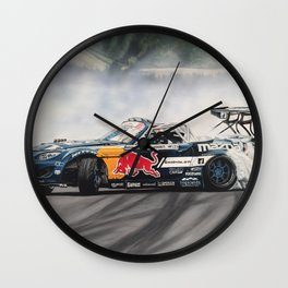 Mad Mike Drift Car Wall Clock