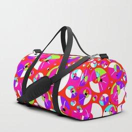 Bubble Red Duffle Bag