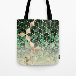 Leaves And Cubes Tote Bag