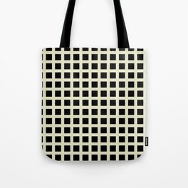 TUNNEL cream and black simple grid grid pattern Tote Bag