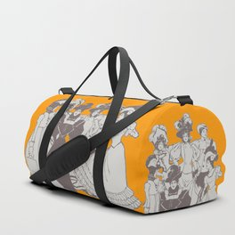 Vintage Ladies APRICOT / Vintage illustration redrawn and repurposed Duffle Bag