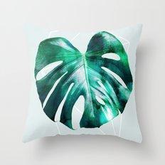 Monstera 2 Geometry Throw Pillow